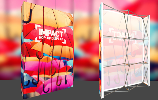Fabric Display Stands, Vibrant and lightweight