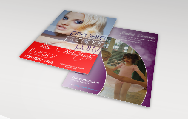 A6 size leaflets and cards