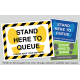 Stand Here to Que, Stickers A3 Size